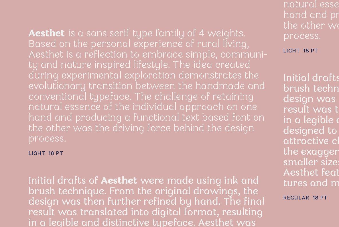 Aesthet Font Family