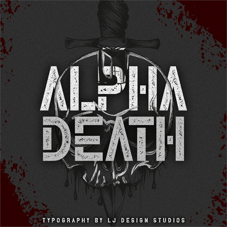 Alpha Death Typeface