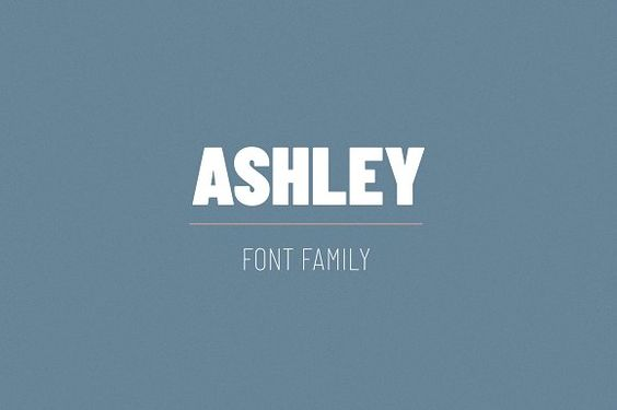 Ashley Font Family