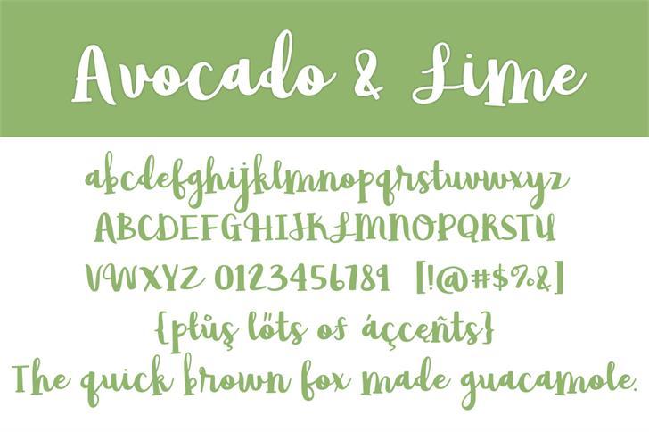 Avocado & Lime Script Font