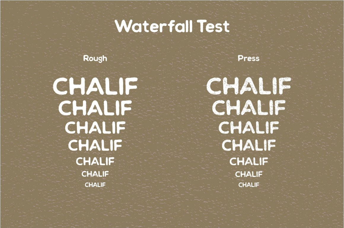 Chalif Typeface