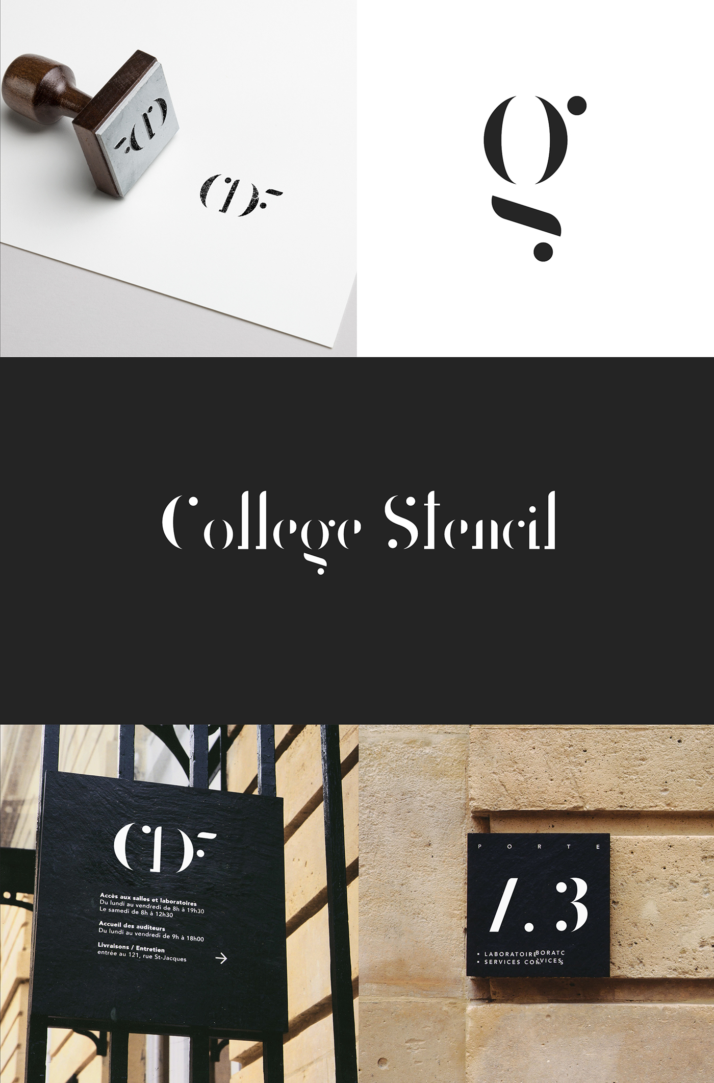 College Stencil Font - Befonts com