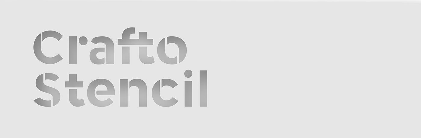 Crafto Stencil Typeface