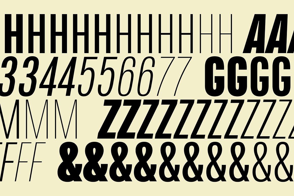 Naratif Condensed Font Family