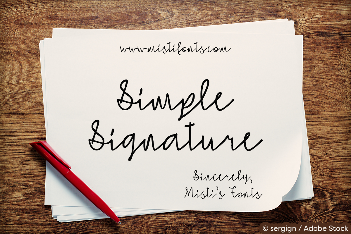 Simple Signature Font Free Demo