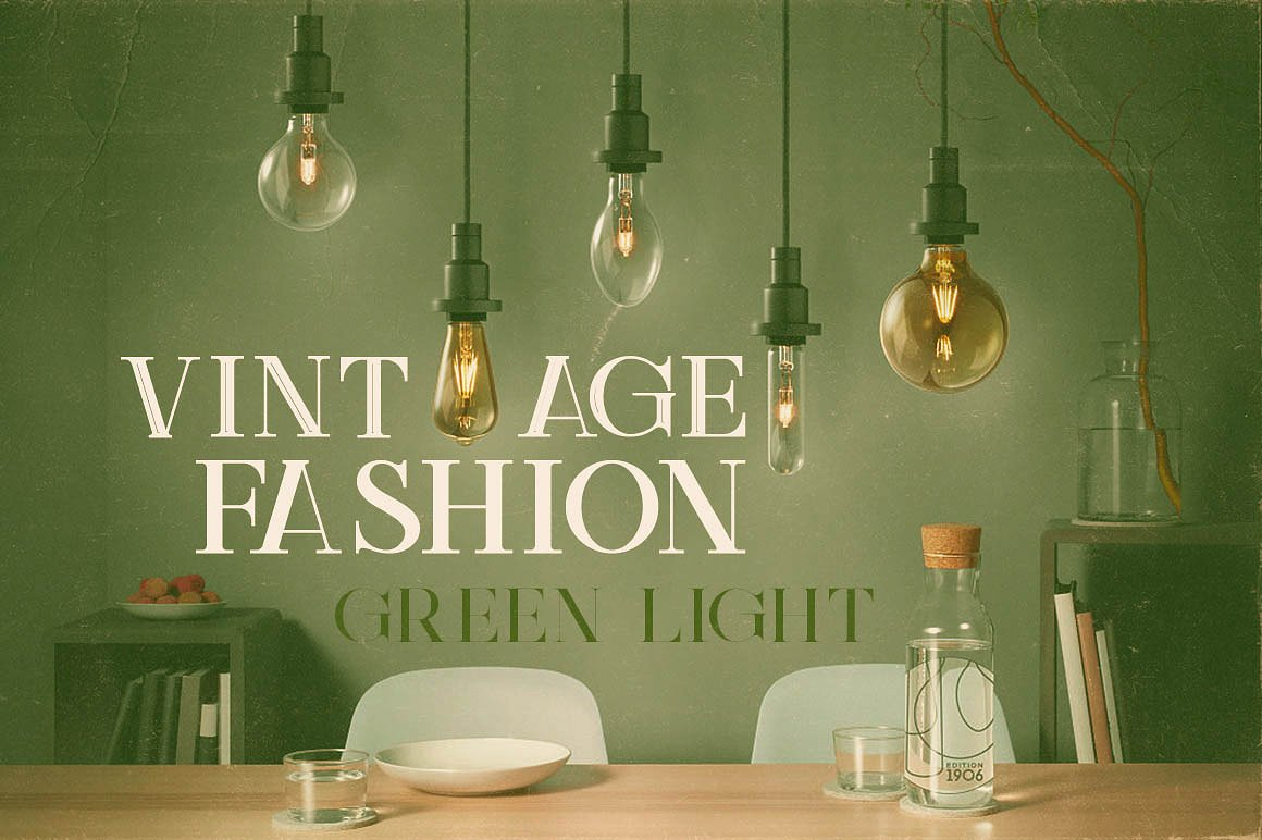 Green Light Display Font