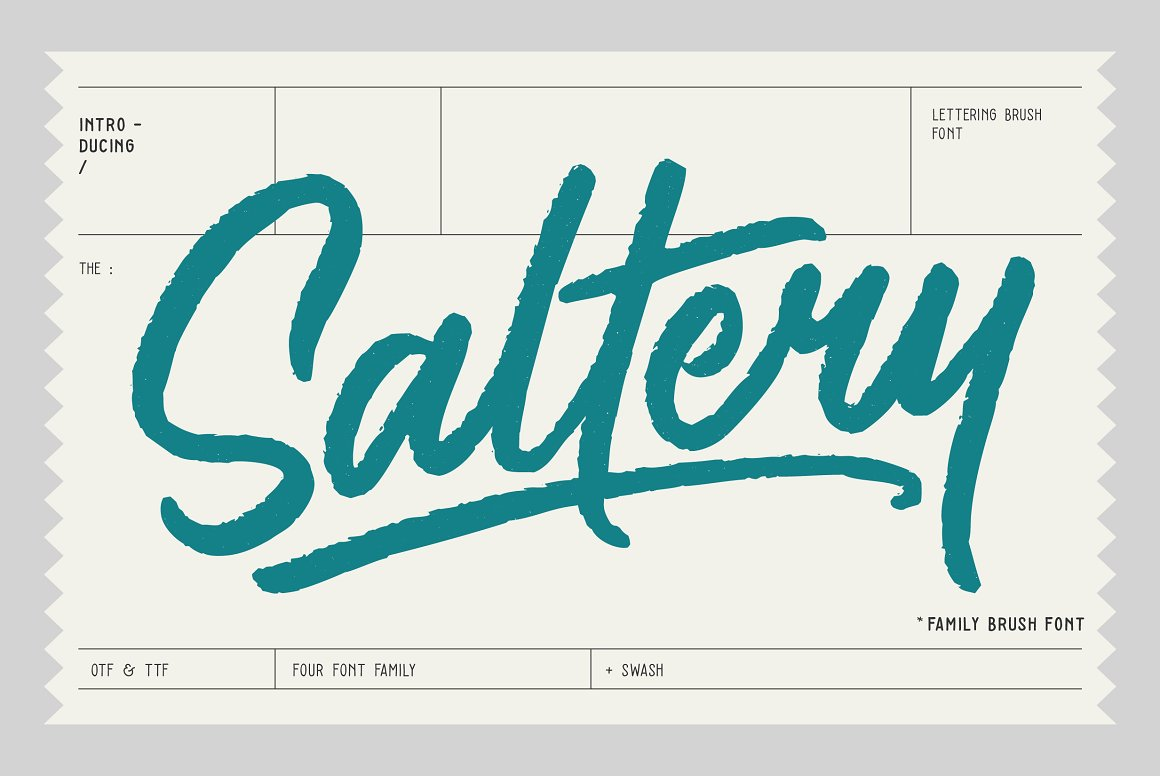 saltery brush font befonts com