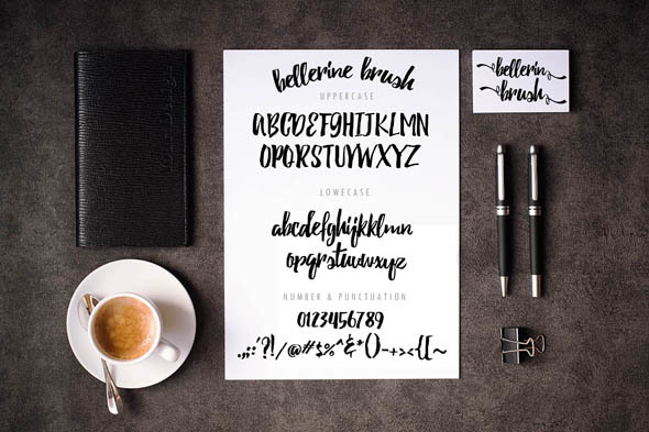 Bellerine Brush Font