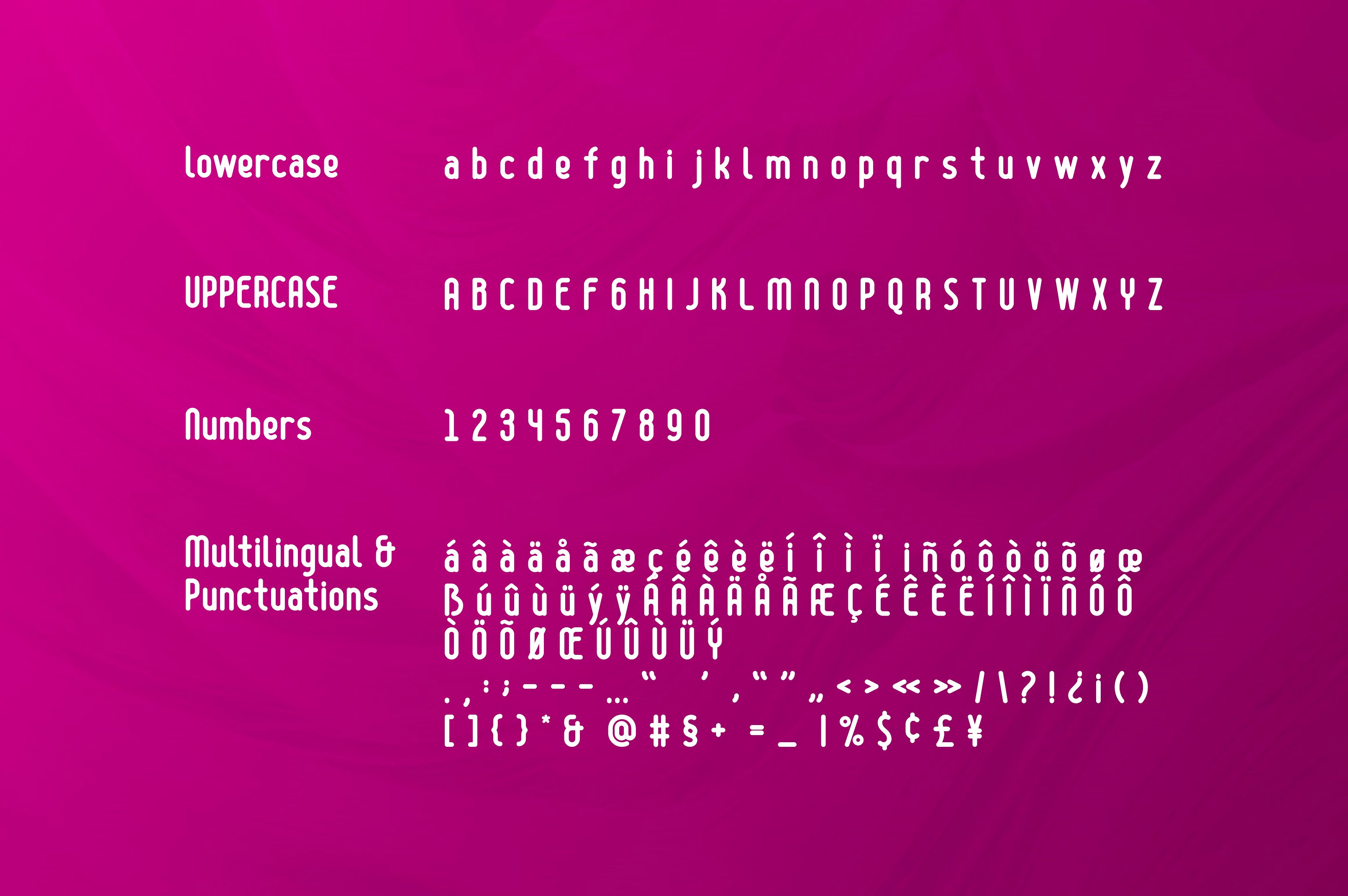 BOLD YEAR Typeface