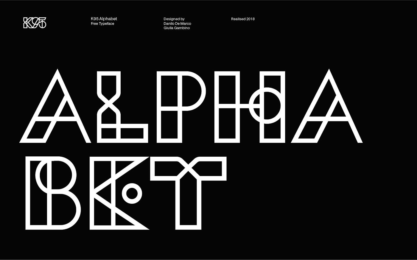 K95 Alphabet Typeface