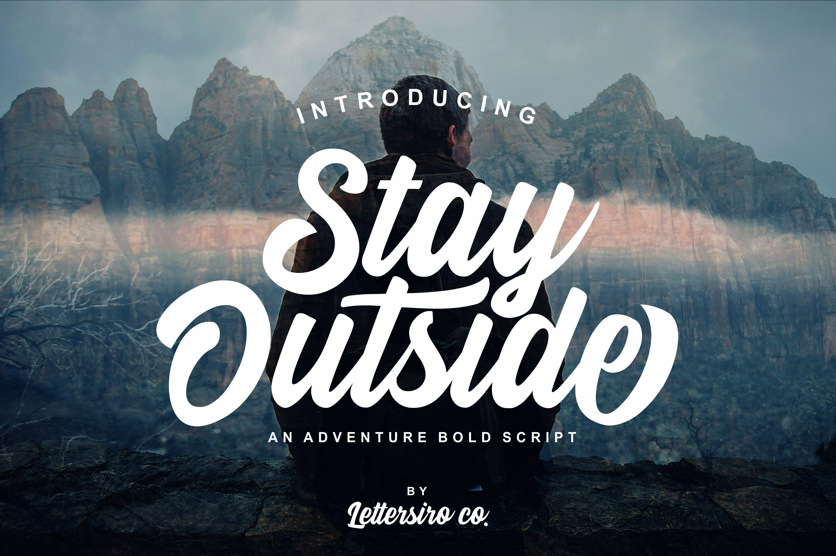 Stay Outside Script Font - Befonts com