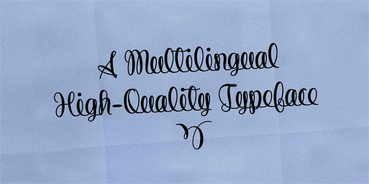String Line Script Font