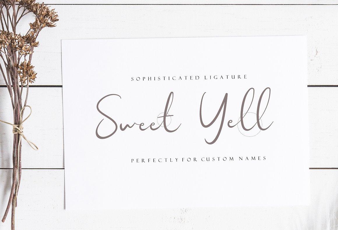 Sweet Yell Script Font
