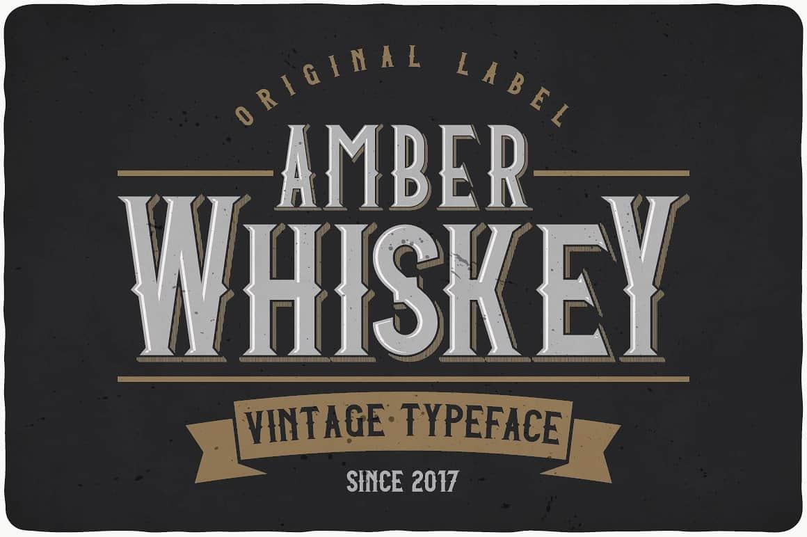 Amber Whiskey Typeface - Befonts com