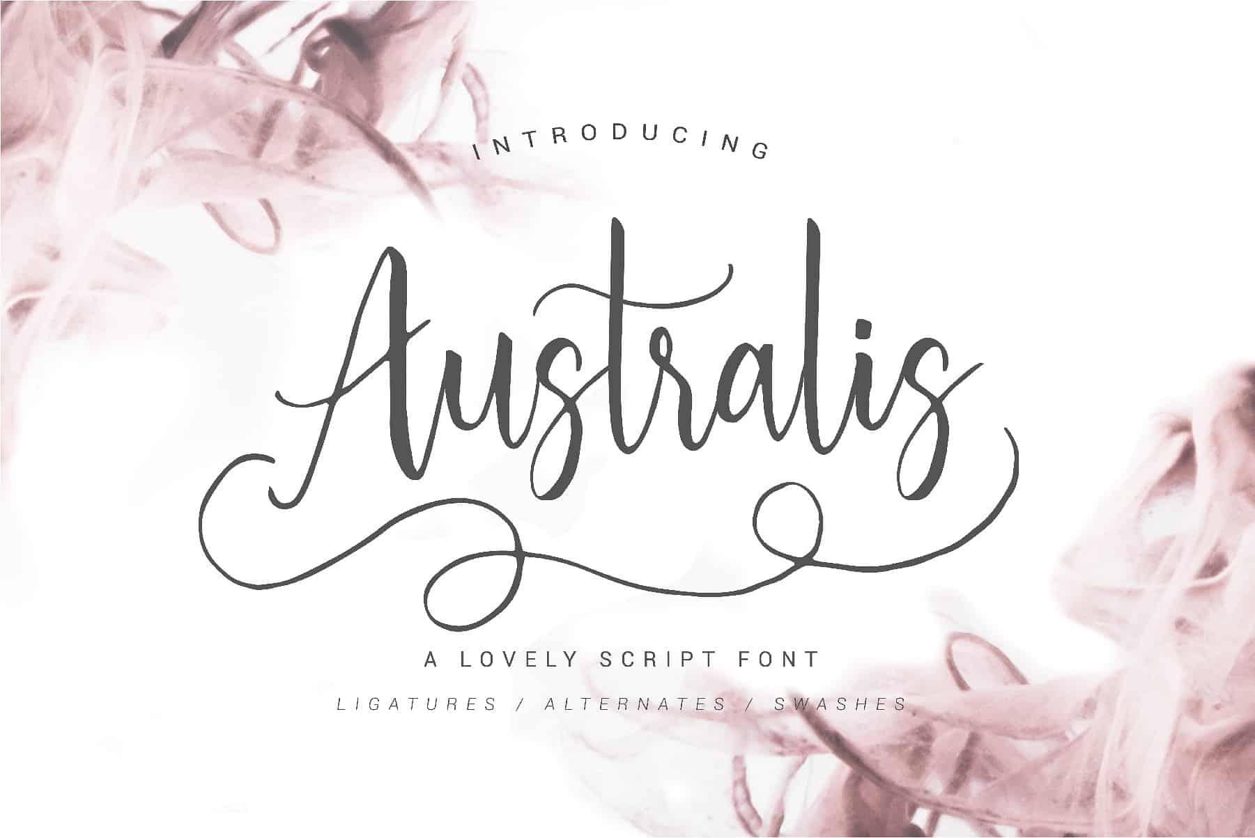 Australis Script Font - Befonts com
