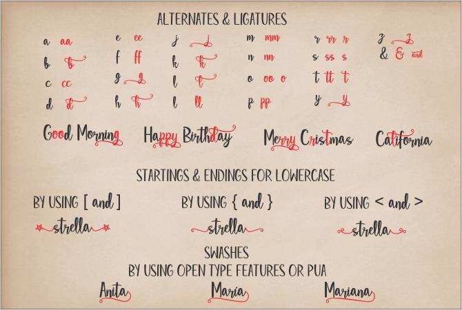 Star Strella Script Font