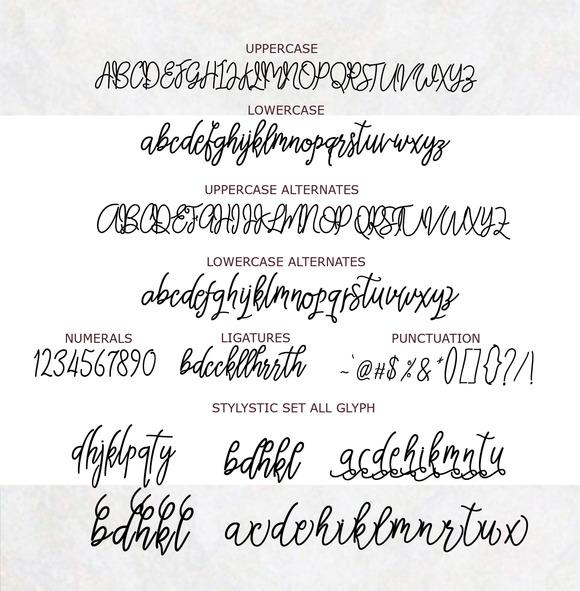 Thastsia Script Font