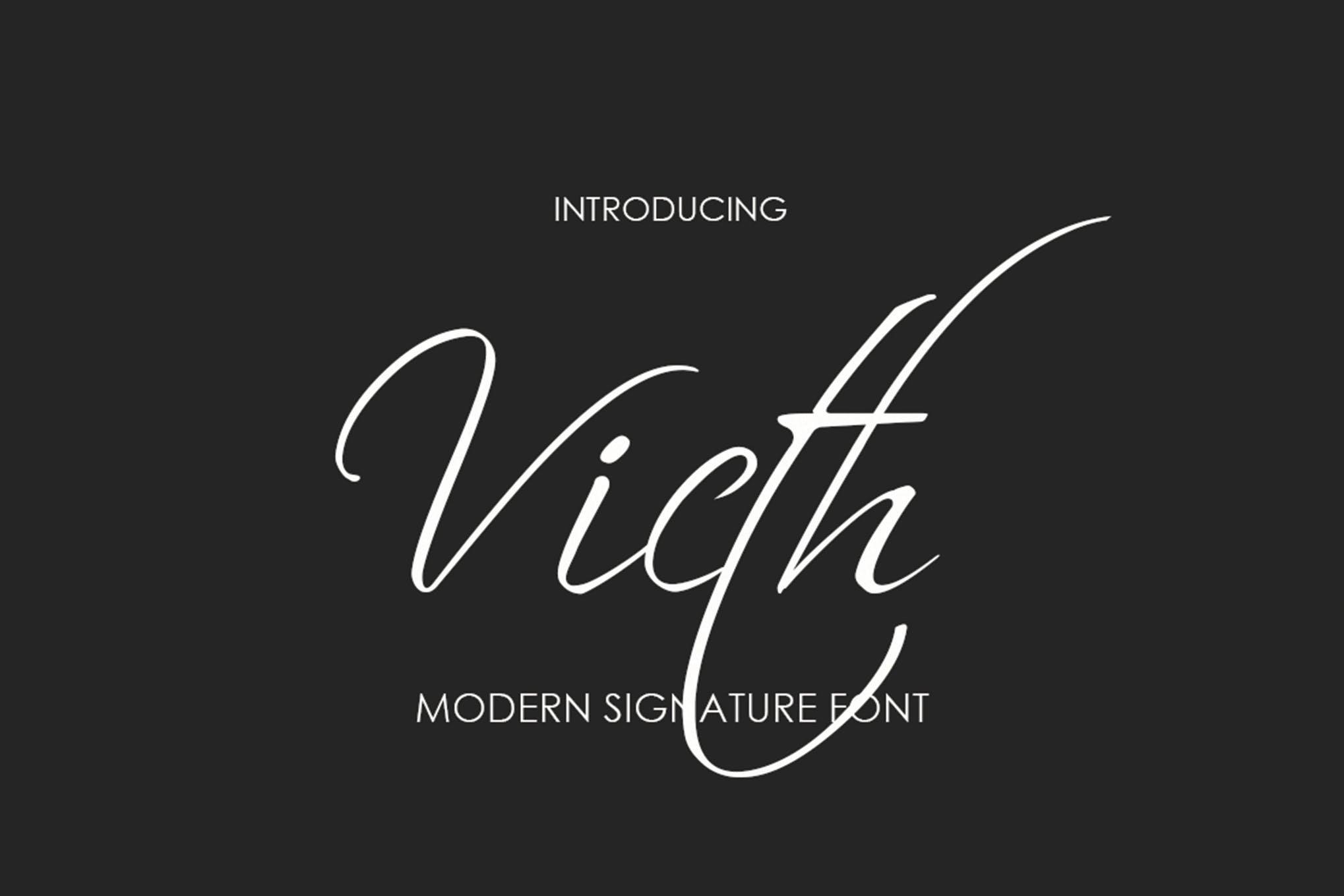 Victh Signature Font