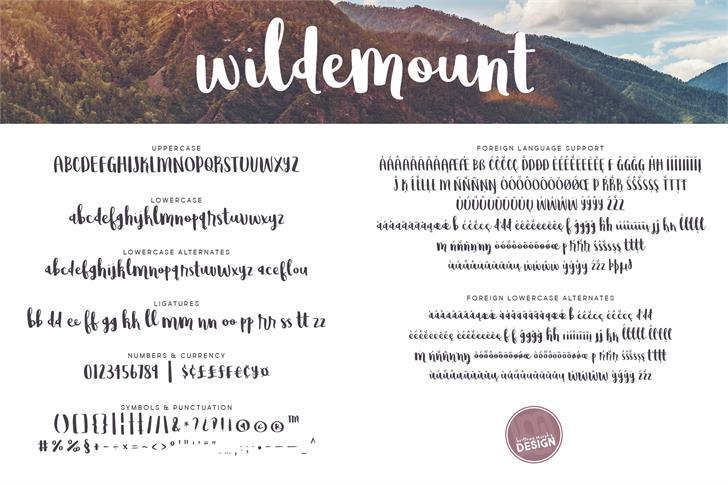 Wildemount Script Font