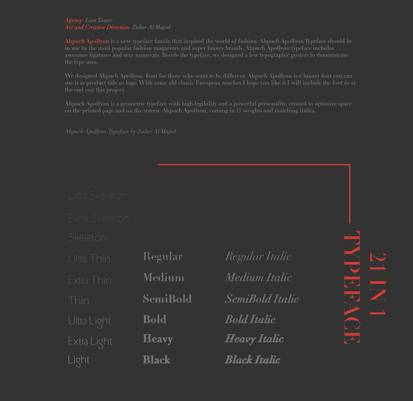 Ahpuch Apollyon Font Family
