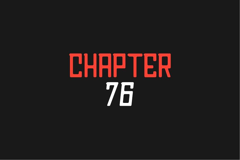 Chapter 76 Sans Font