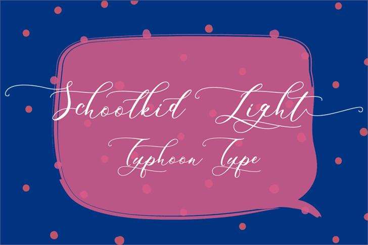 Schoolkid Script Font Family