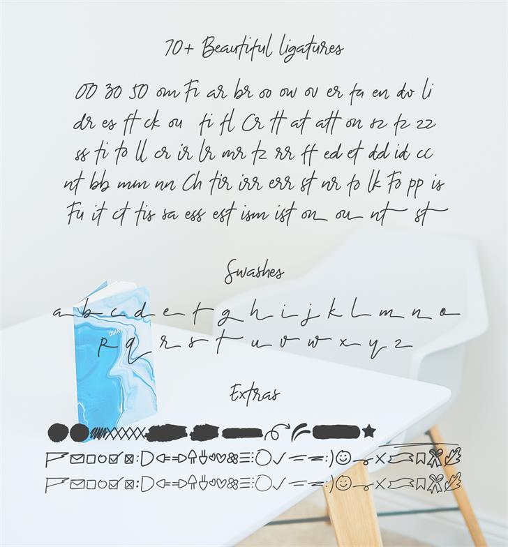 The Bouquet List Script Font