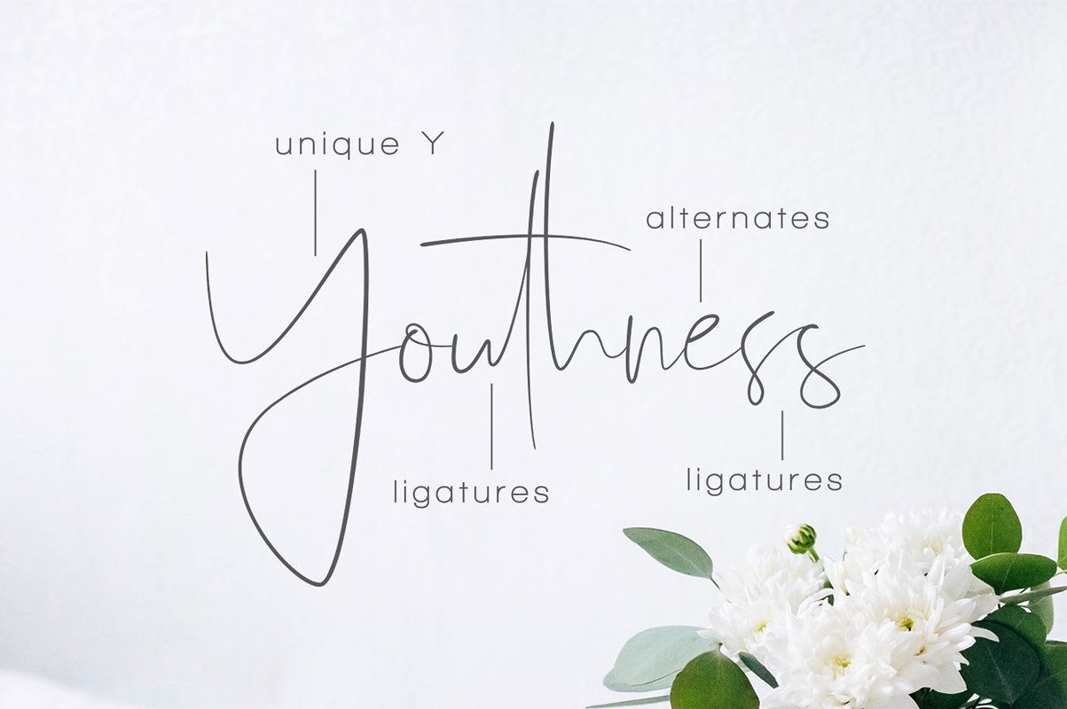 Youthness Script Font