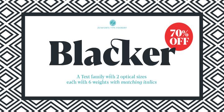 Blacker Font Family - Befonts com