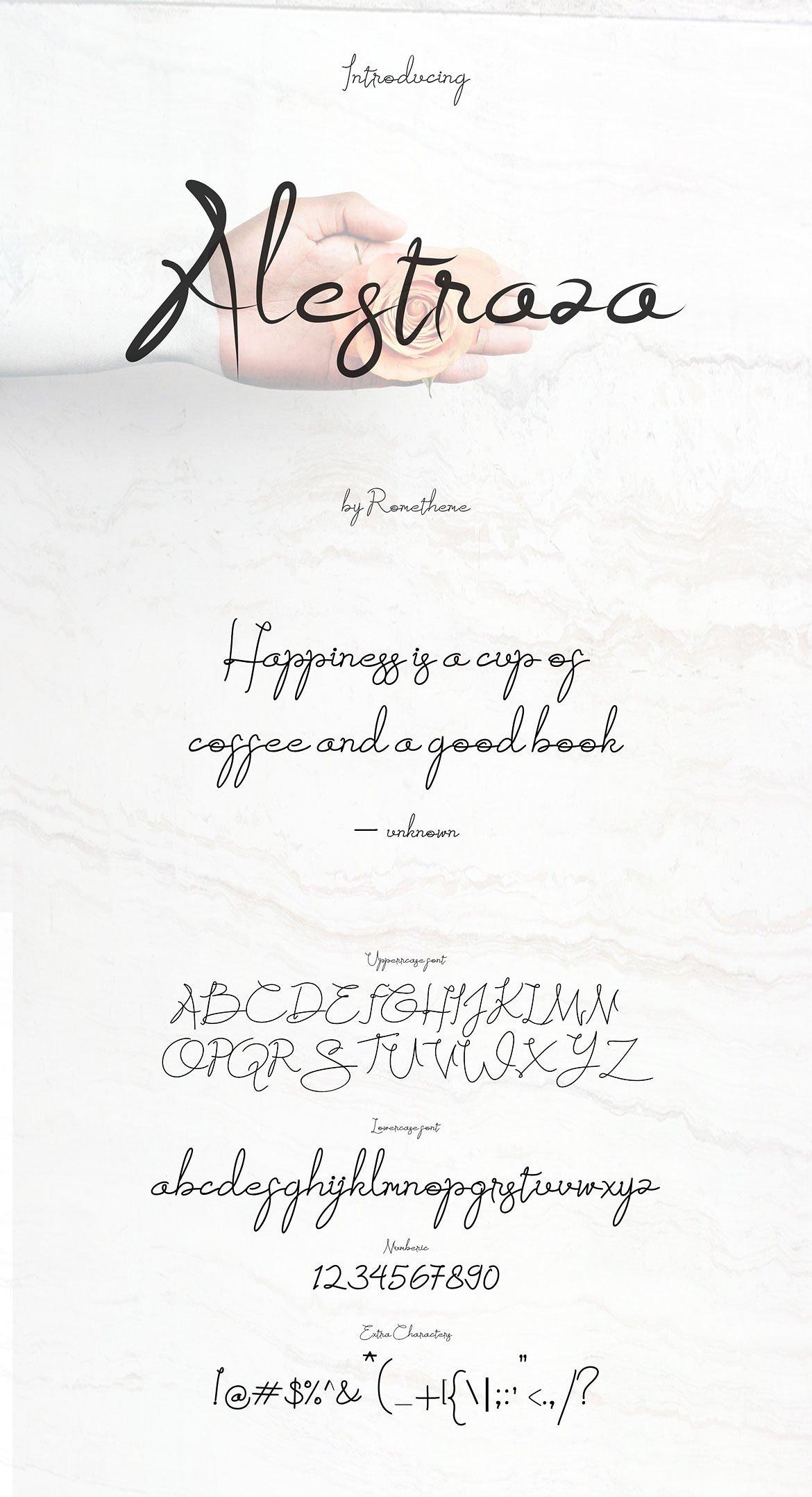 Alestraza Brush Font