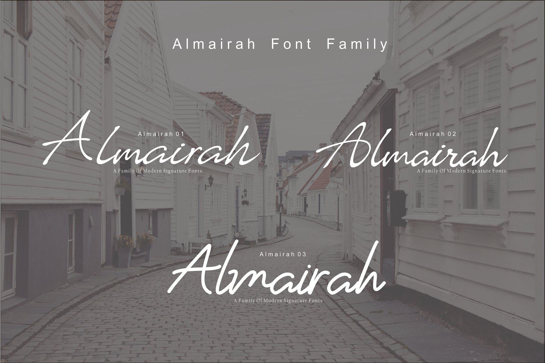 Almairah Script Font Family