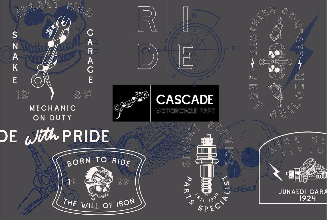 Cascade Motorcycle Font