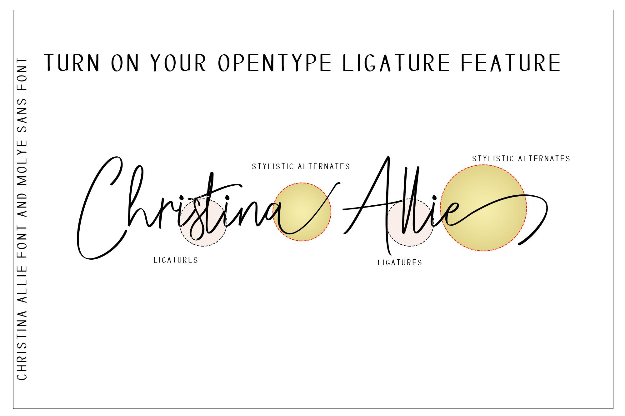 Christina Allie Script Font