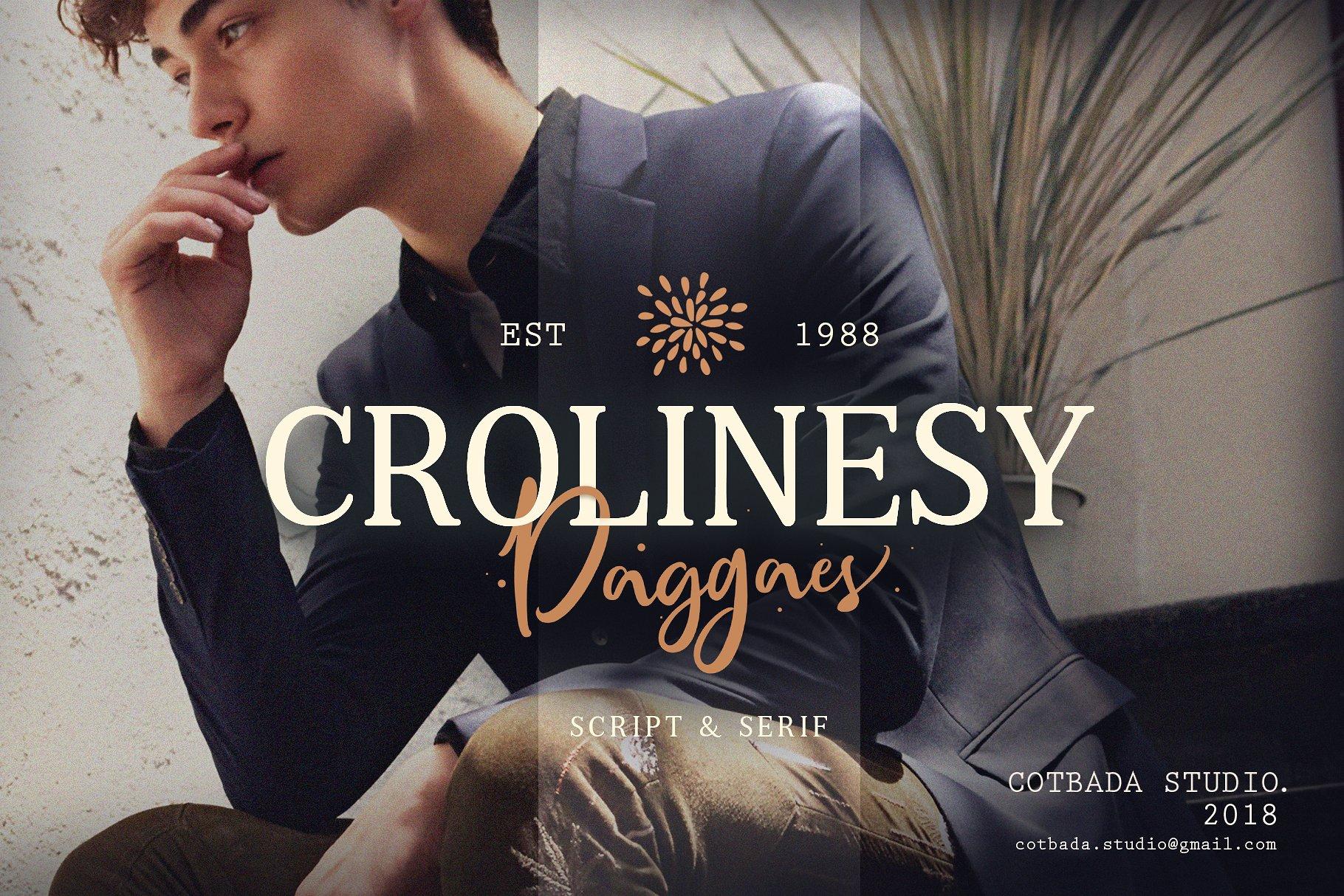 Crolinesy Daggaes Script Font