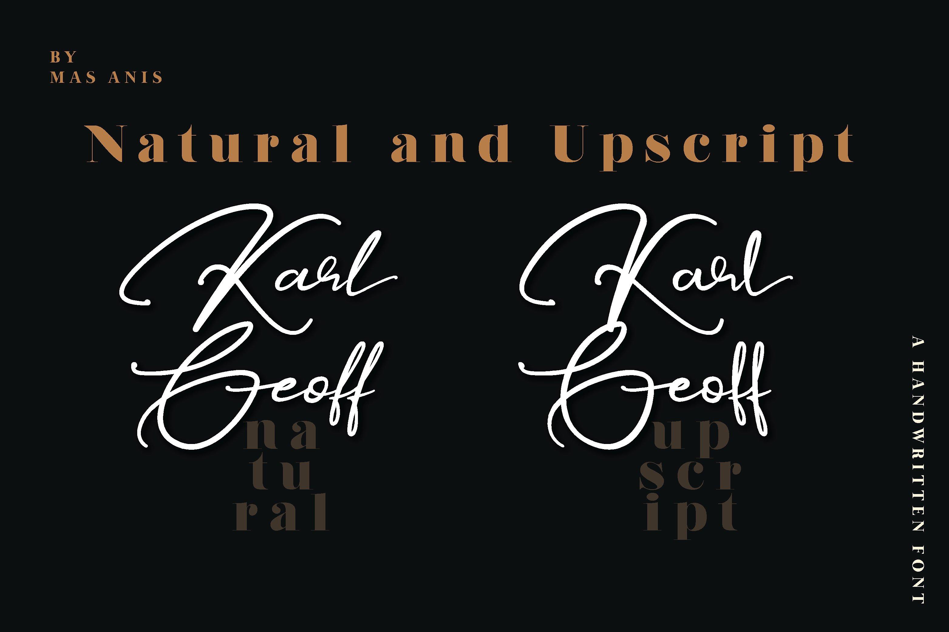 Karl Geoff Script Font