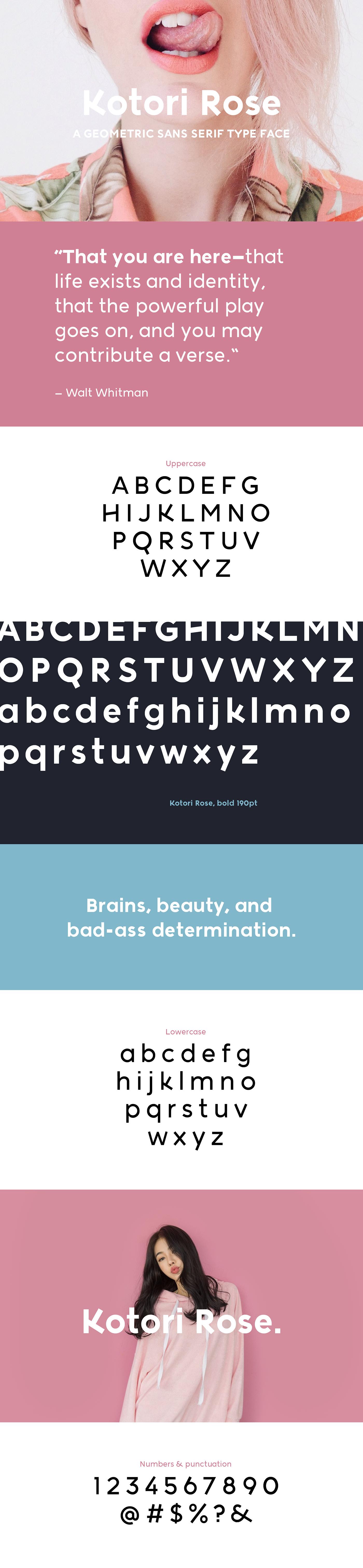 Kotori Rose Typeface