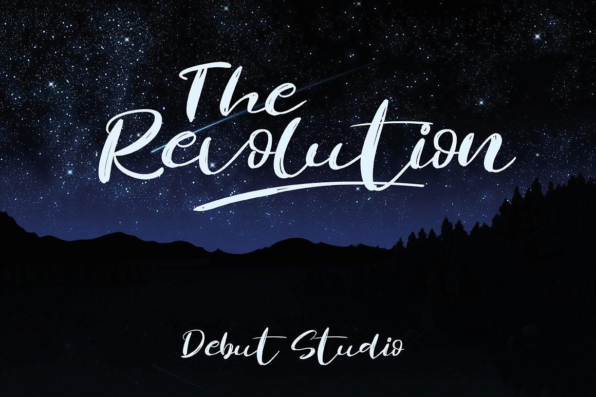 Revolution Brush Font