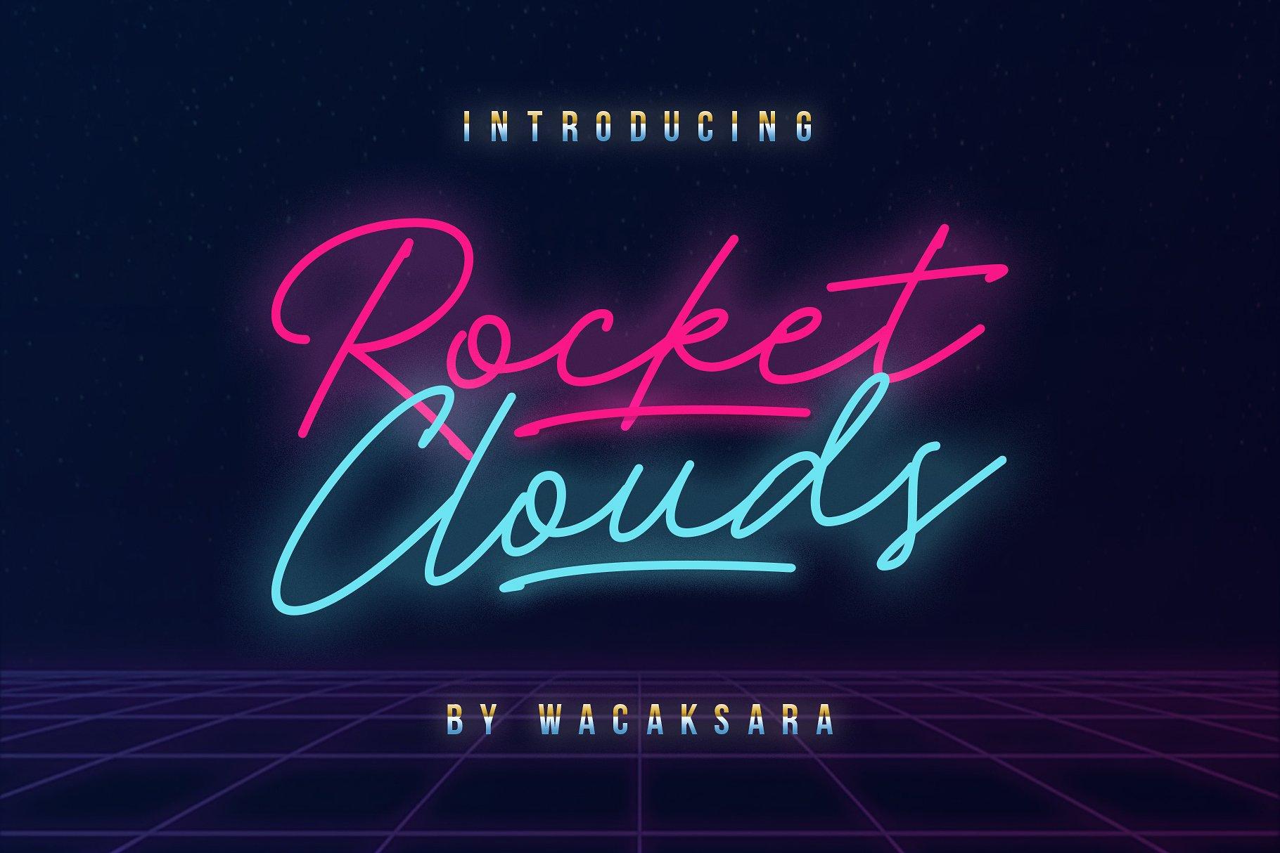 Rocket clouds script font befonts altavistaventures Gallery