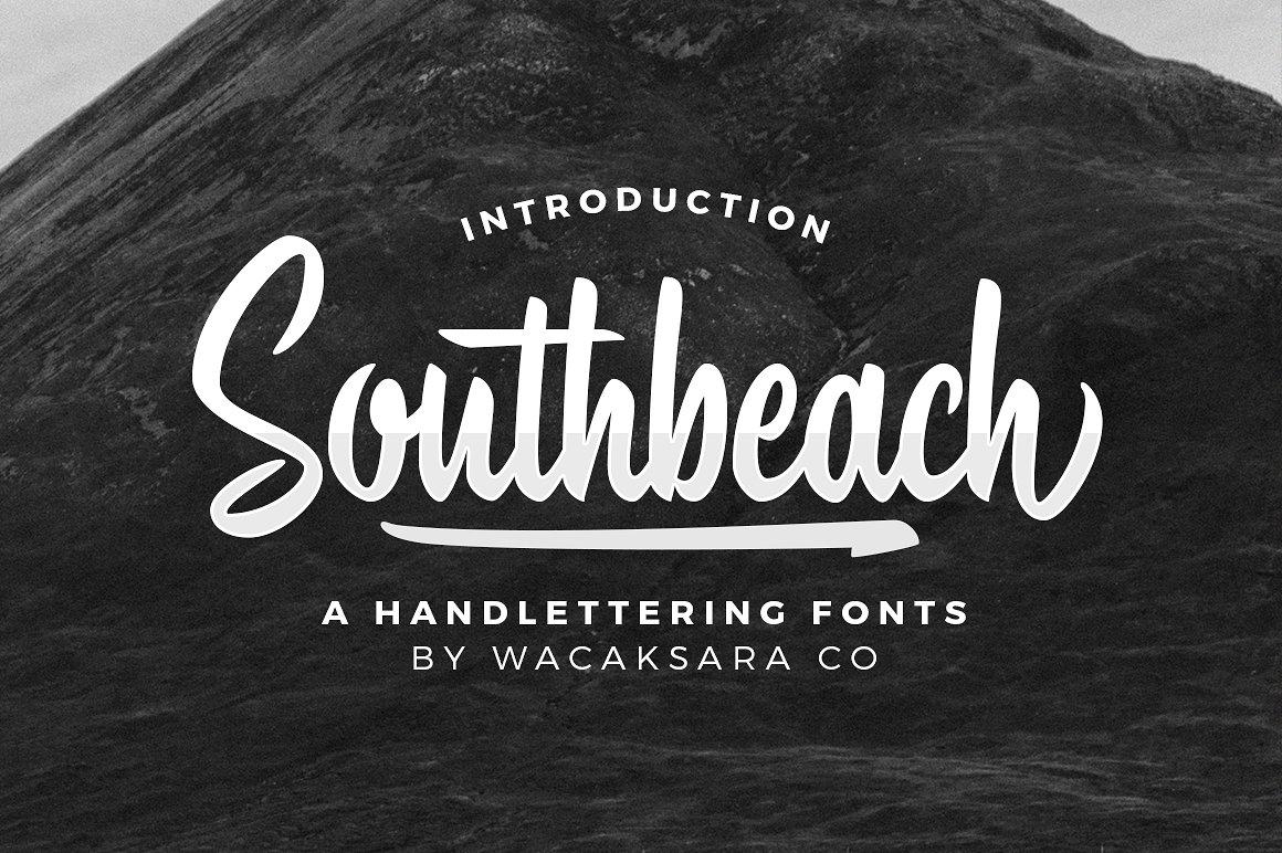 southbeach script font