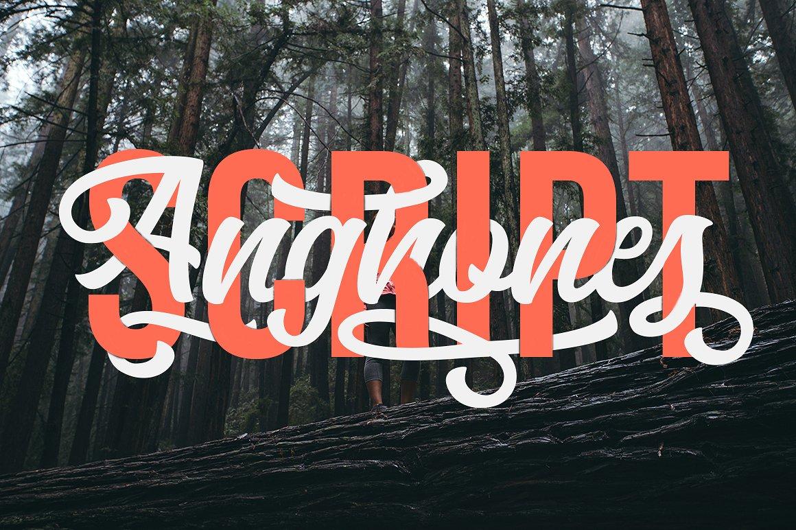 Anghones Script Font