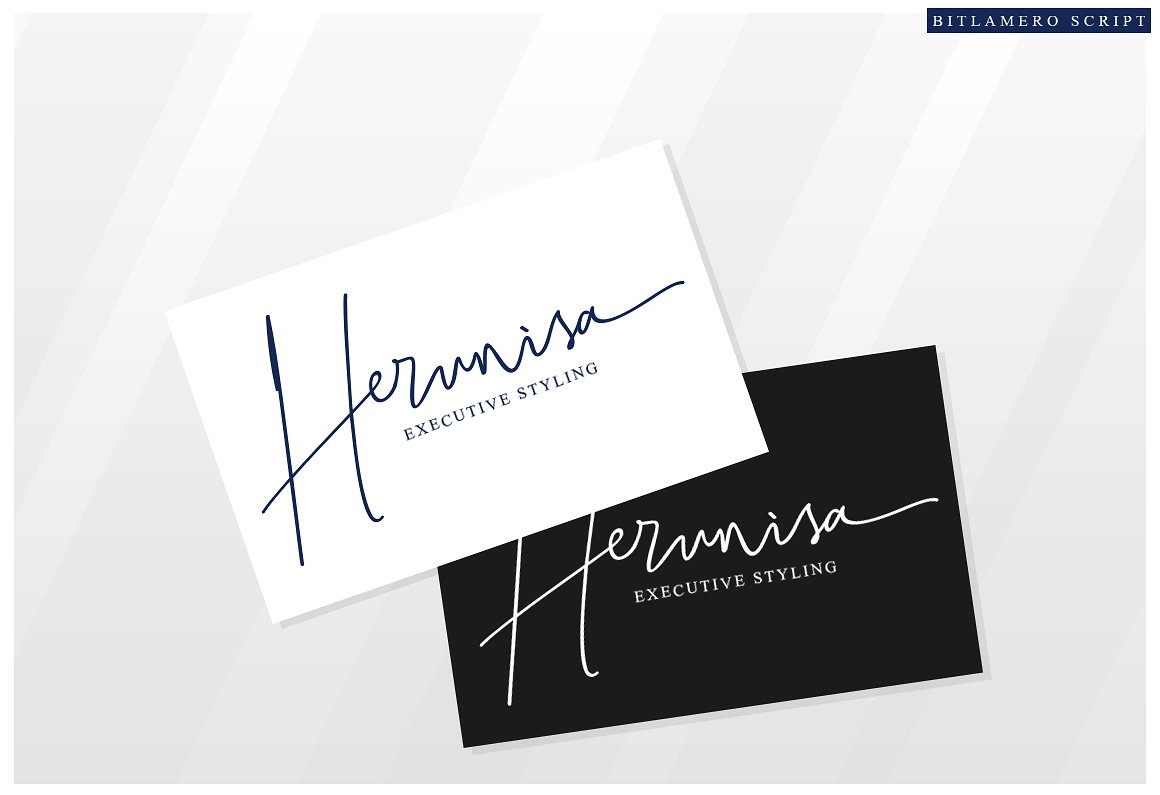 Bitlamero Signature Font