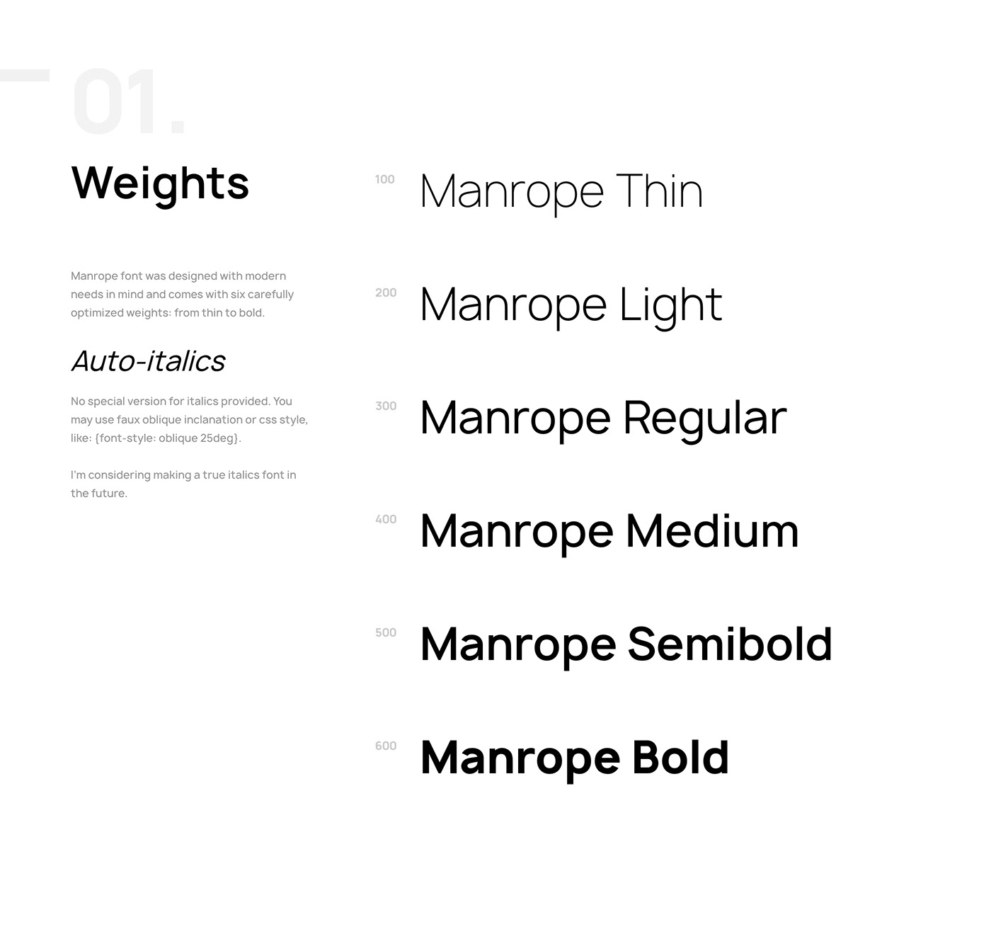 Manrope Font Family