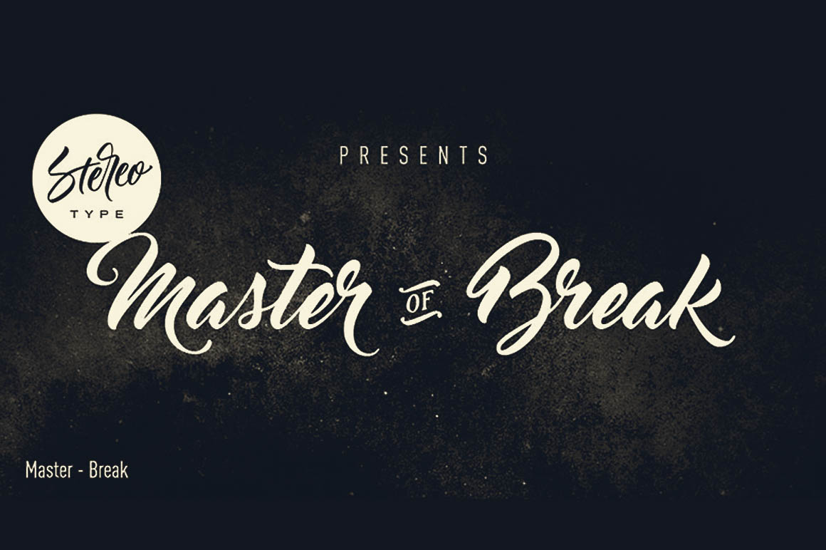 Master of Break Font - Befonts com