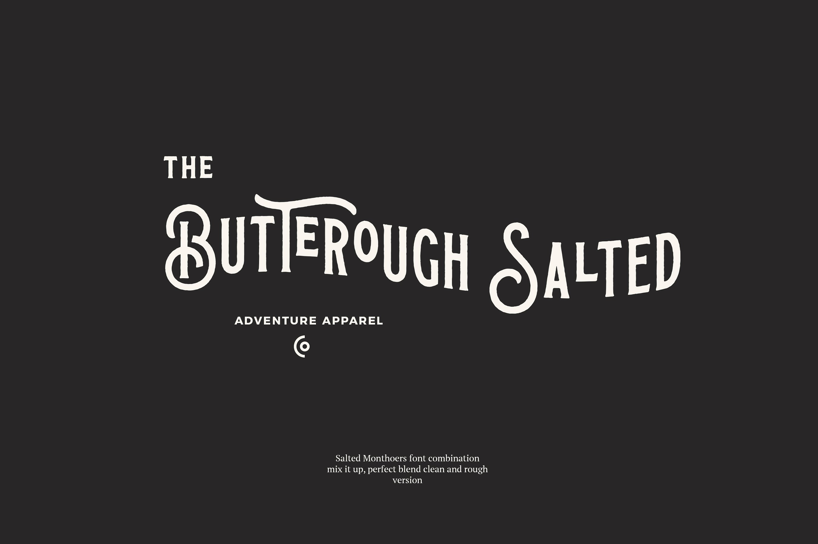 Salted Monthoers Typeface