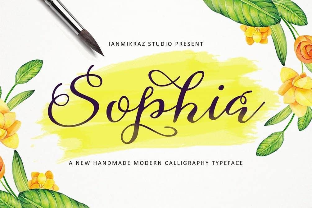 Sophia - Befonts - Download free fonts