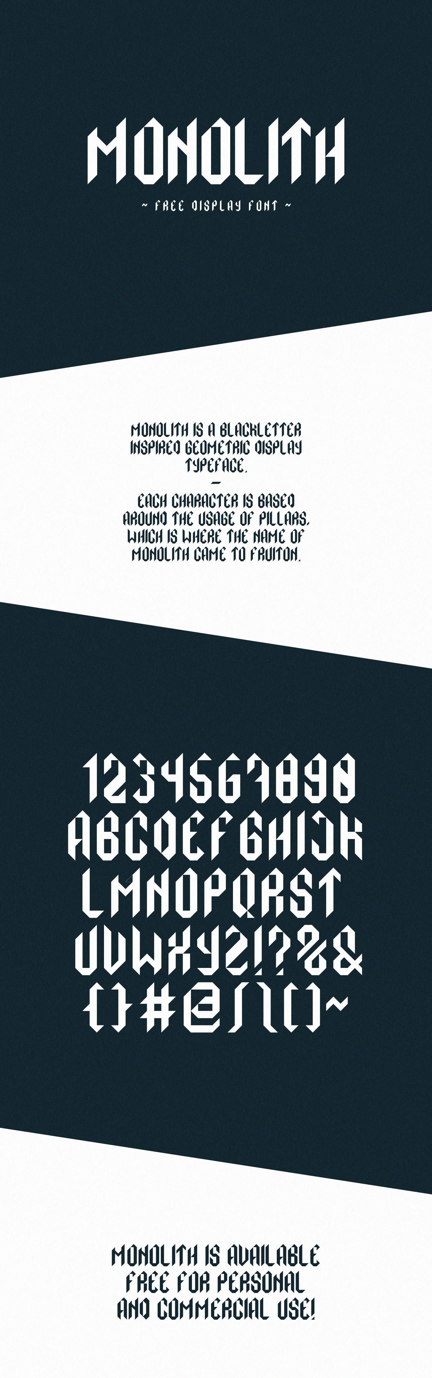 Monolith Typeface