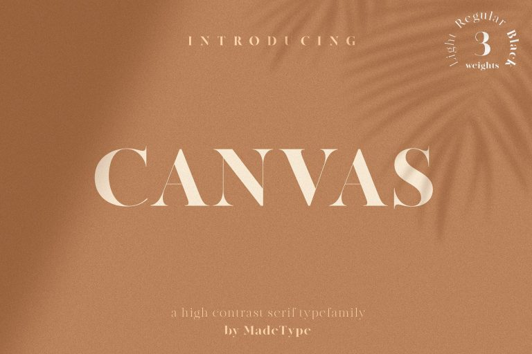 MADE Canvas Serif Font - Befonts com