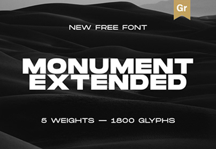 Monument Extended Font Family - Befonts com