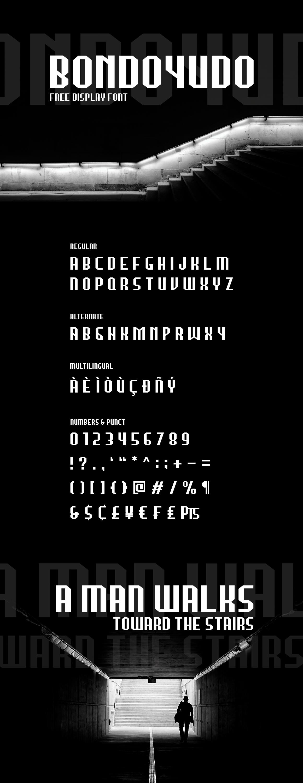 Bondoyudo Typeface