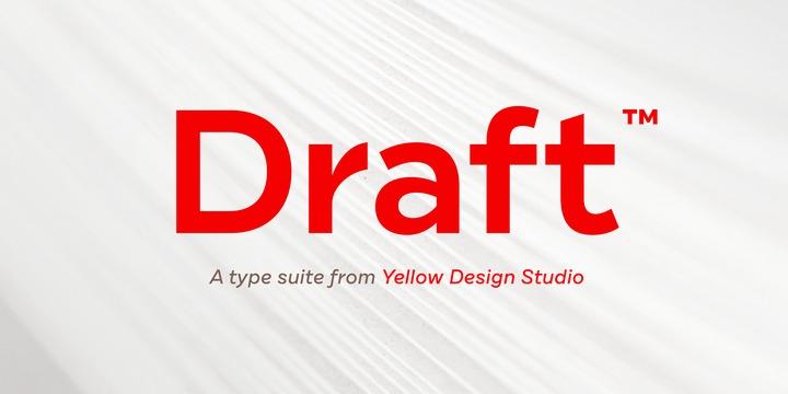 Draft Font Family - Befonts com